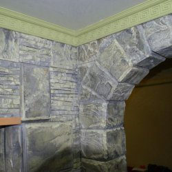 Искусственный, декоративный камень ручной работы. Арки из камня. Картины. Декоративные полки.